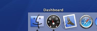 Click the Dashboard icon in the dock