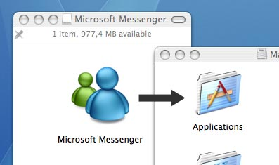 Drag the application to the Applications folder