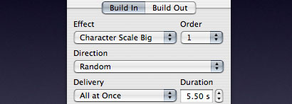The Build Inspector of Keynote