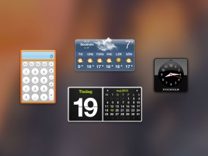 Screenshot of Dashboard and Widgets