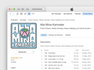 Podcast view in iTunes