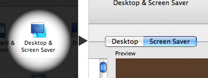 In System Preferences, click the System and Screen Savers button