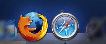 Safari and Firefox in the dock