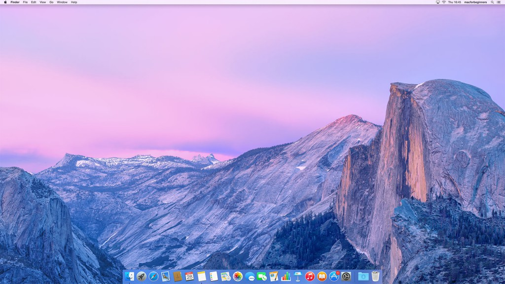 Print screen of Mac desktop